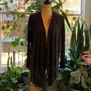EUC Black with metallic flecks open sweater